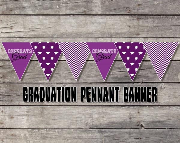 Graduation Congrats Pennant Banner
