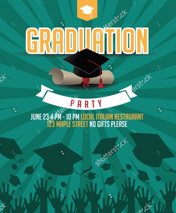 Graduation Mortarboard Invitation Background