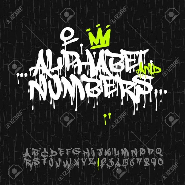 Graffiti Block Number Letters