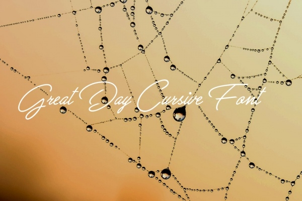 Great Day Cursive Letters Fonts