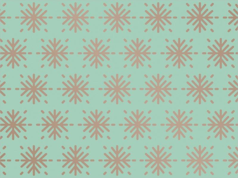 Green Snowflake Pattern