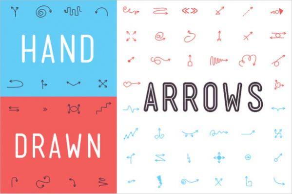 hand-drawn-arrow-font