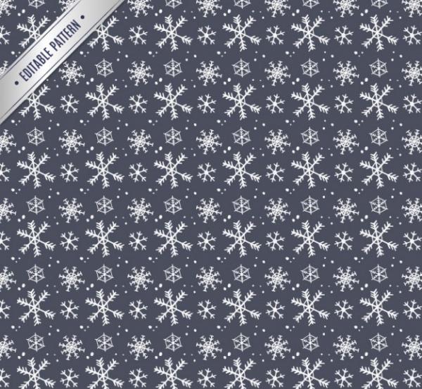 Hand Drawn Snowflake Pattern