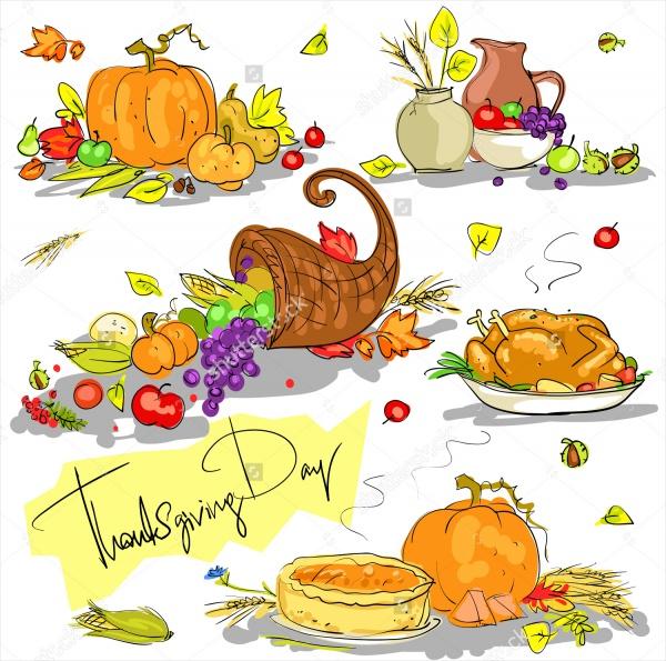 Hand Drawn Thanksgiving Clipart