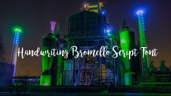 Handwriting Bromello Script Font