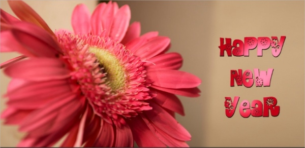 Happy New Year Flower Image