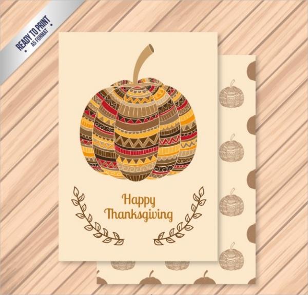 Happy Thanksgiving Card Printable