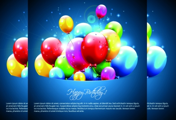 happy birthday balloons of greeting