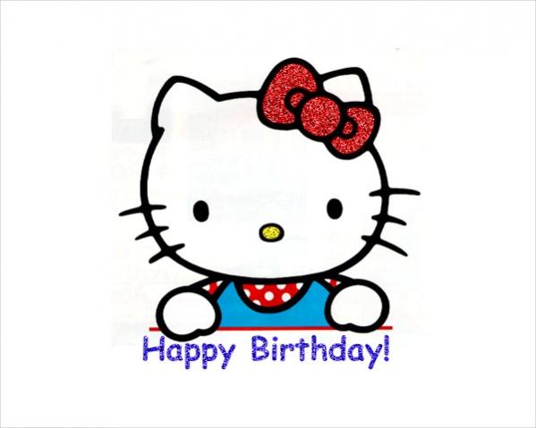 Hello Kitty Birthday Clipart