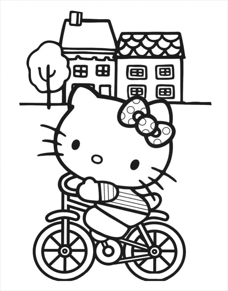 Hello Kitty Coloring Page For Free