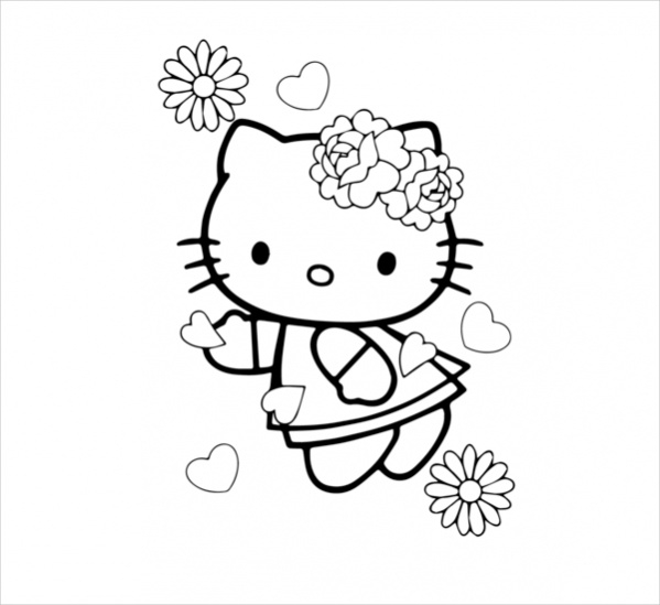 18 Hello Kitty Coloring Pages