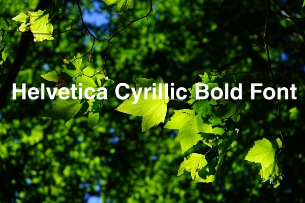 Helvetica Cyrillic Bold Font