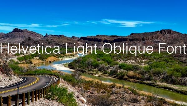 Helvetica Light Oblique Font