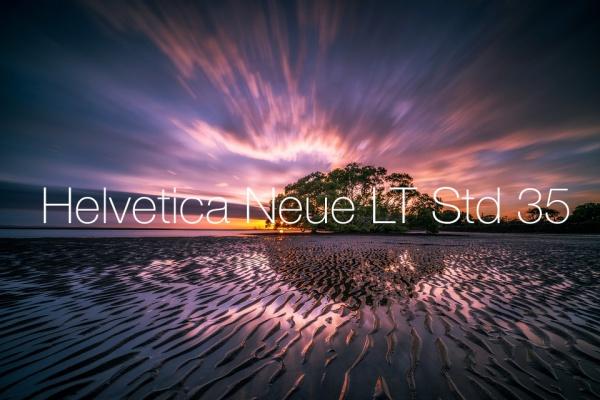 Helvetica Neue LT Std 35 Thin Font