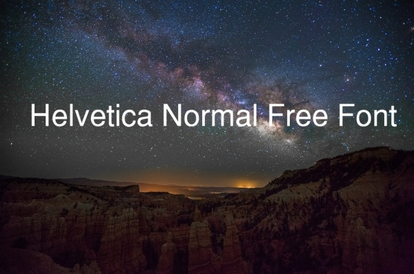 Helvetica Normal Free Font