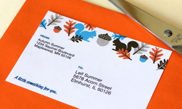 home address label design