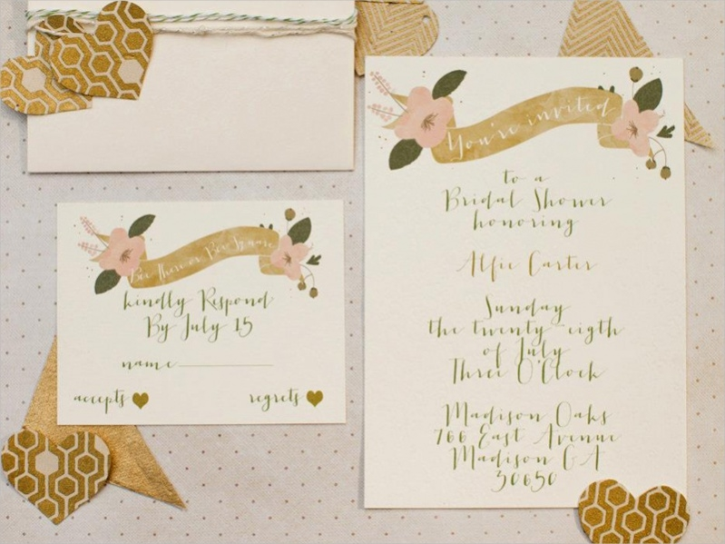Honeycomb Bridal Shower Invitations