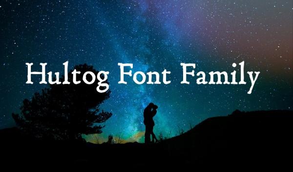 Hultog Font Family of Antiqua