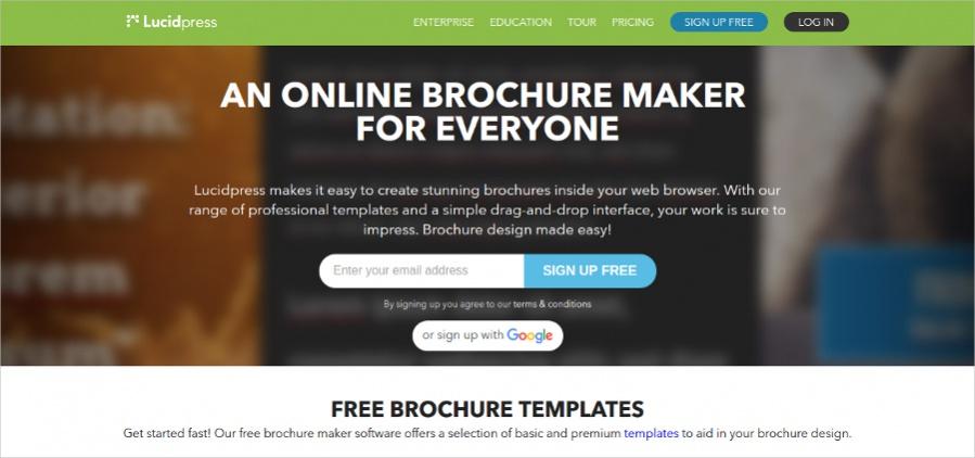 Impressive Layout Online Brochure