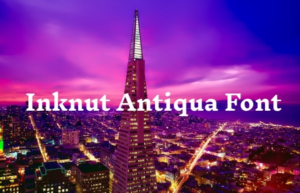 Inknut Antiqua Regular Font