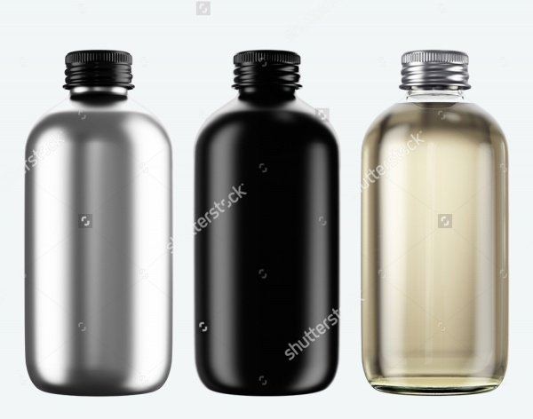 Isolated Ceramic Water Bottles