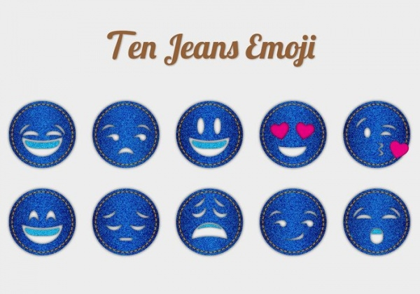 jeans emoticons vector