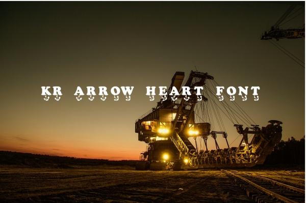kr-arrow-heart-font
