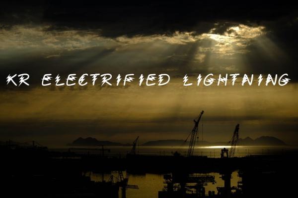KR Electrified Lightning Font