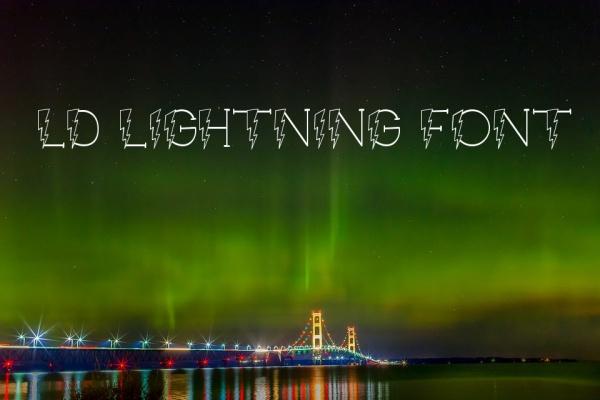 LD Lightning Font