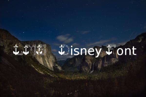 LMS Disney Font