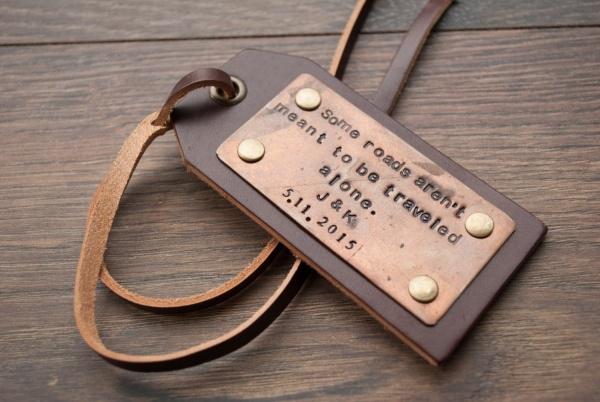 Leather Luggage Tag Design