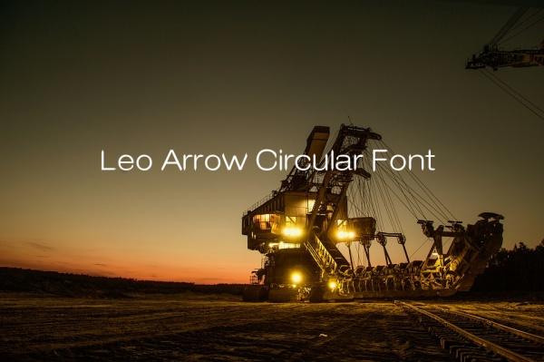 leo-arrow-circular-font