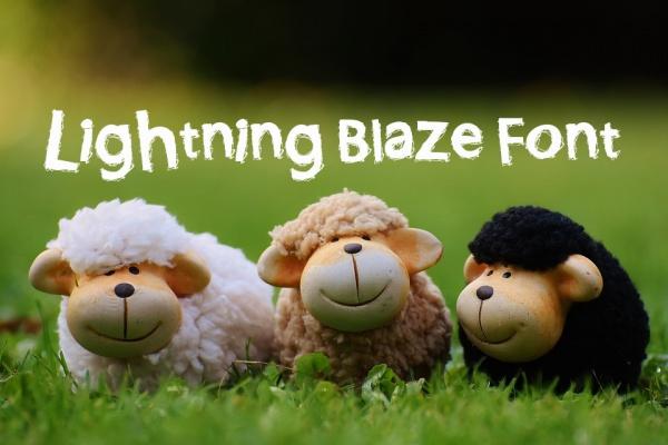Lightning Blaze Font