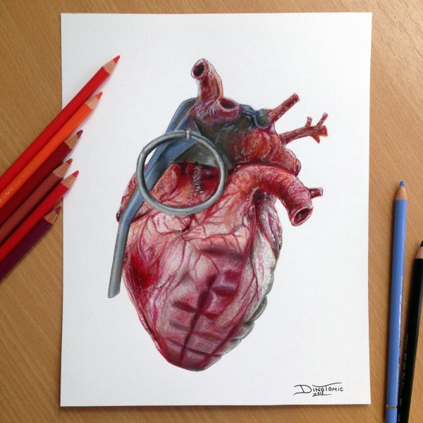 Lovely Heart Pencil Drawing