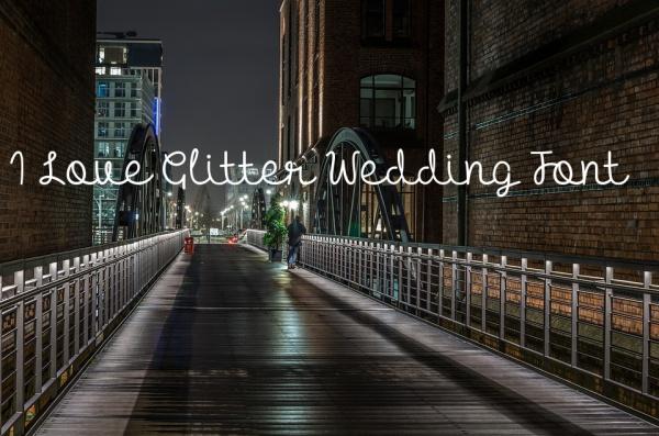 mf i love glitter wedding font