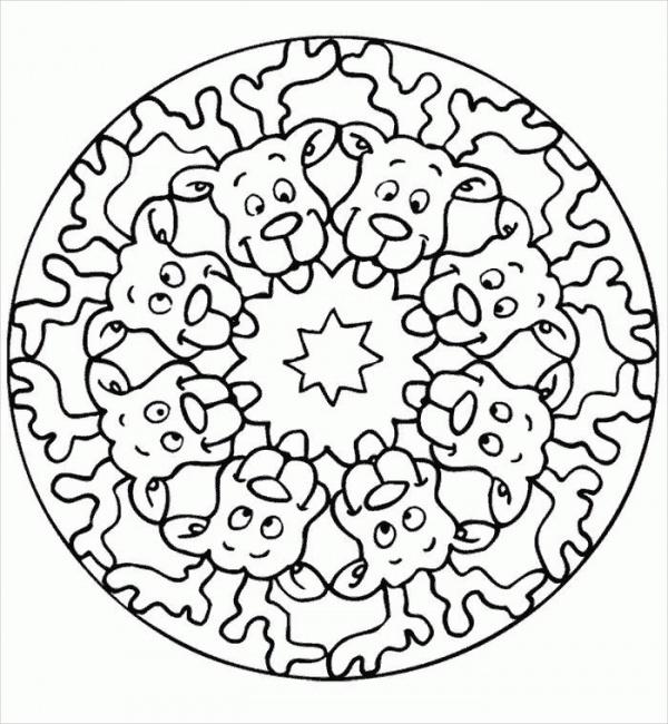 Mandala Christmas Coloring Pages