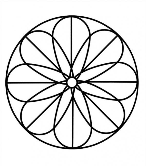Mandala Coloring Page Design