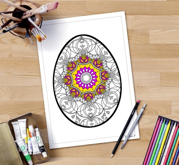 mandala easter egg coloring pages