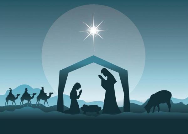 Merry Christmas Religious Image