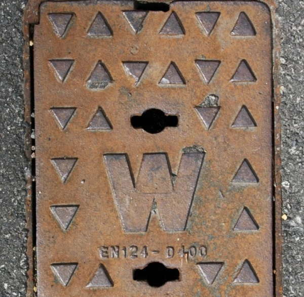 Metal Manhole Cover Texture