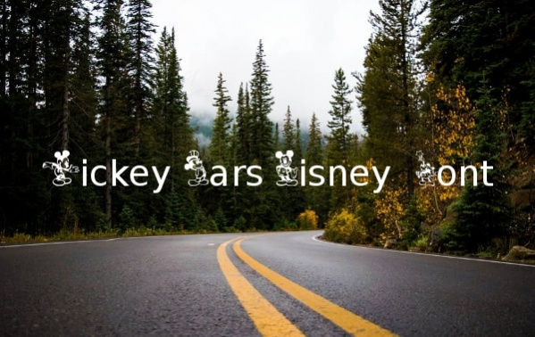 Mickey Ears Disney Font