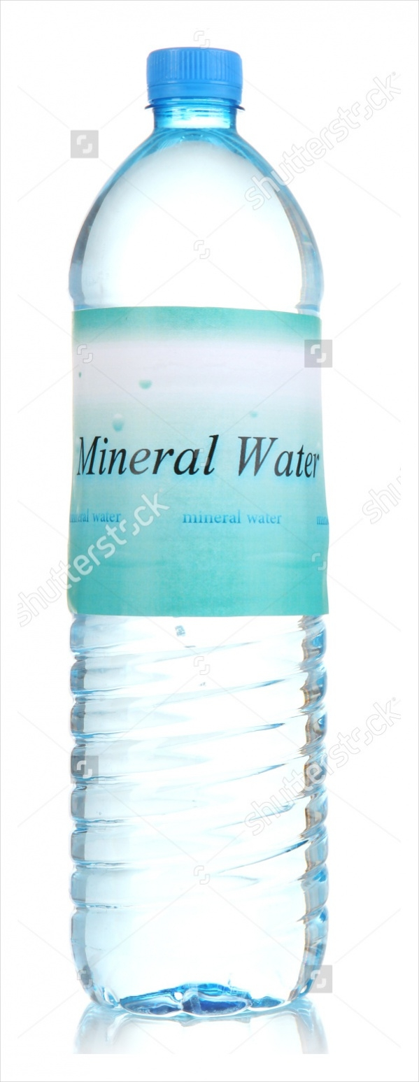 Mineral Water Bottle Label