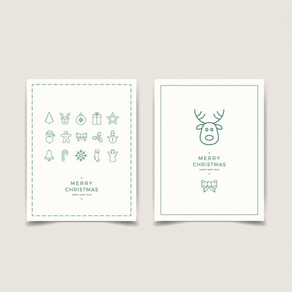 Minimalist Decoration Merry Christmas Card