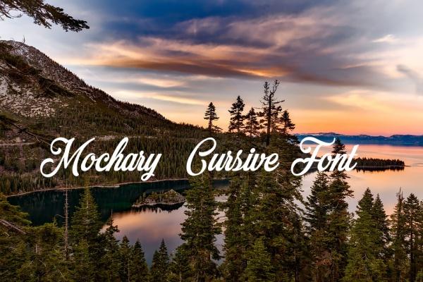 Mochary Bold Cursive Fonts