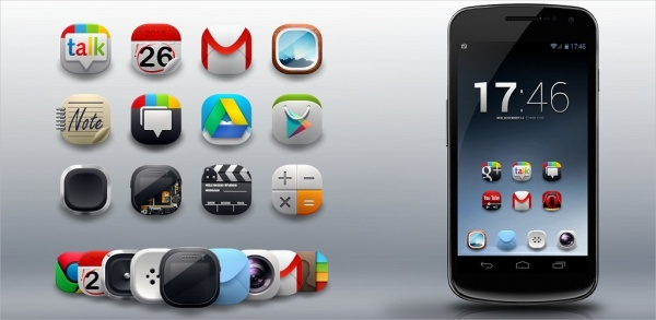 modern android icons pack