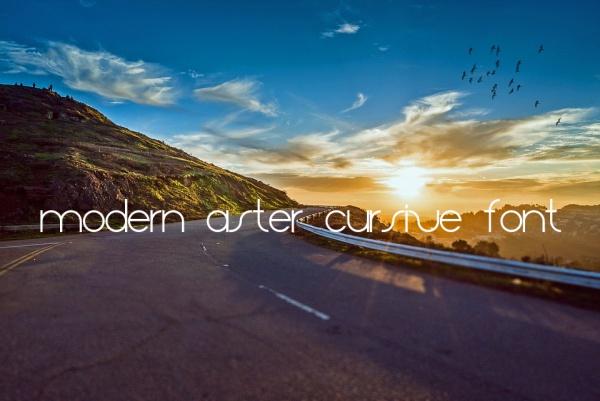 Modern Aster Cursive Font