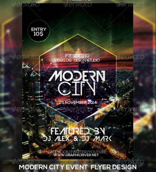 Modern City Event Flyer Design