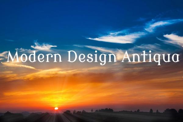 Modern Design Antiqua Font