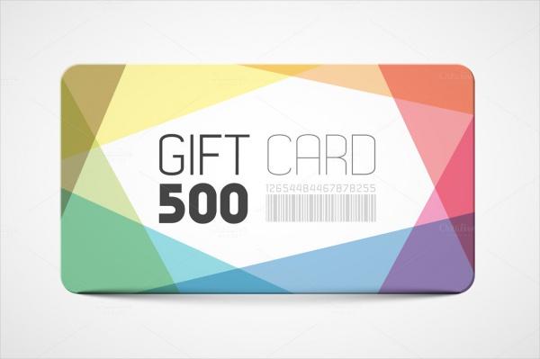 Modern Gift Card Design