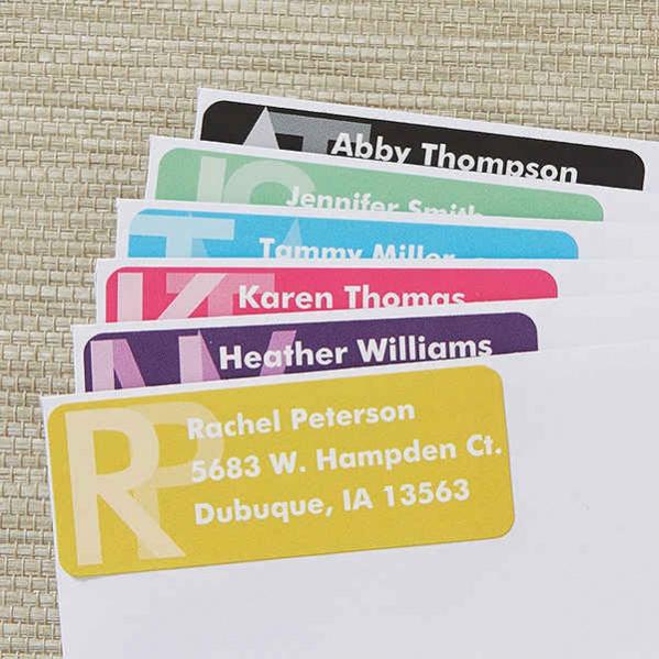 Monogram Return Address Labels